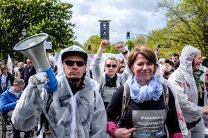 Bild vom Protest am 4. Mai am Brandenburger Tor